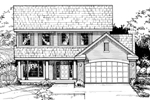 Traditional House Plan Front of Home - 072D-0463 | House Plans and More