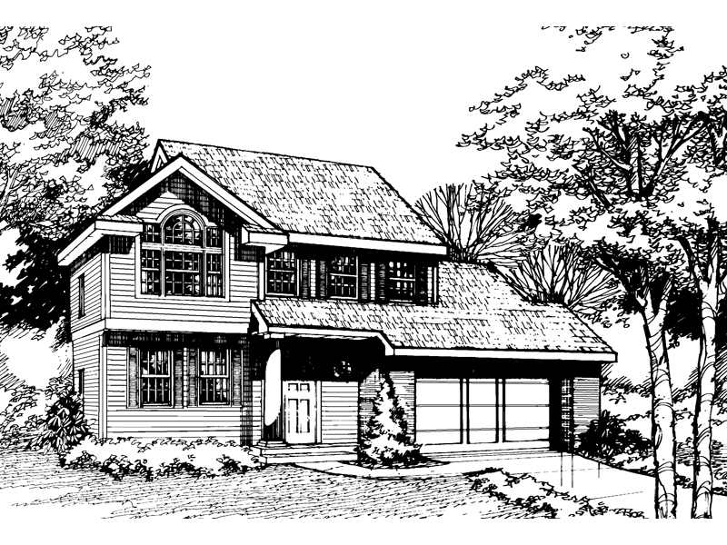 Country House Plan Front of Home - 072D-0464 | House Plans and More