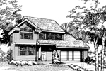Contemporary House Plan Front of Home - 072D-0464 | House Plans and More