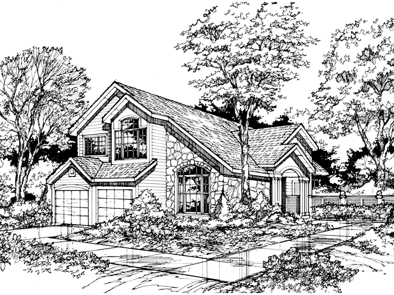 Cabin and Cottage Plan Front of Home - 072D-0465 | House Plans and More