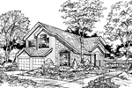 Traditional House Plan Front of Home - 072D-0465 | House Plans and More