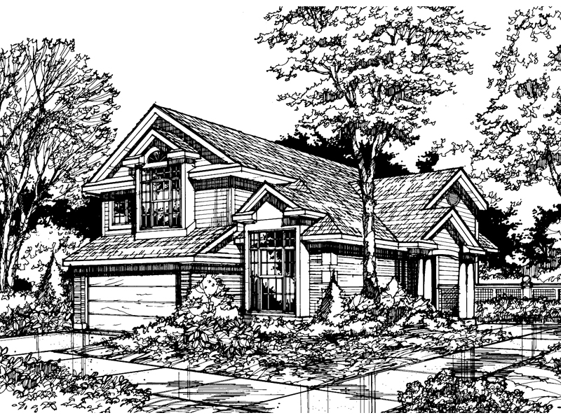 Southern House Plan Front of Home - 072D-0466 | House Plans and More