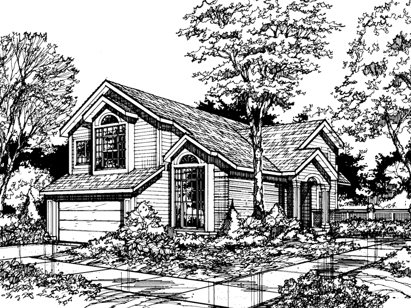 Country House Plan Front of Home - 072D-0467 | House Plans and More