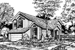 Traditional House Plan Front of Home - 072D-0467 | House Plans and More