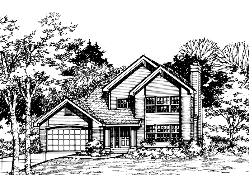 Traditional House Plan Front of Home - 072D-0468 | House Plans and More
