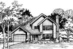 Contemporary House Plan Front of Home - 072D-0468 | House Plans and More