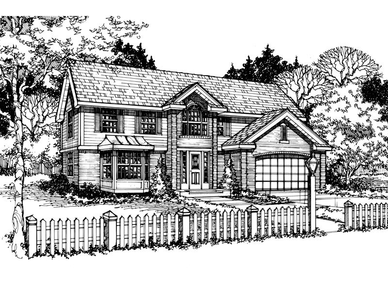 Traditional House Plan Front of Home - 072D-0469 | House Plans and More