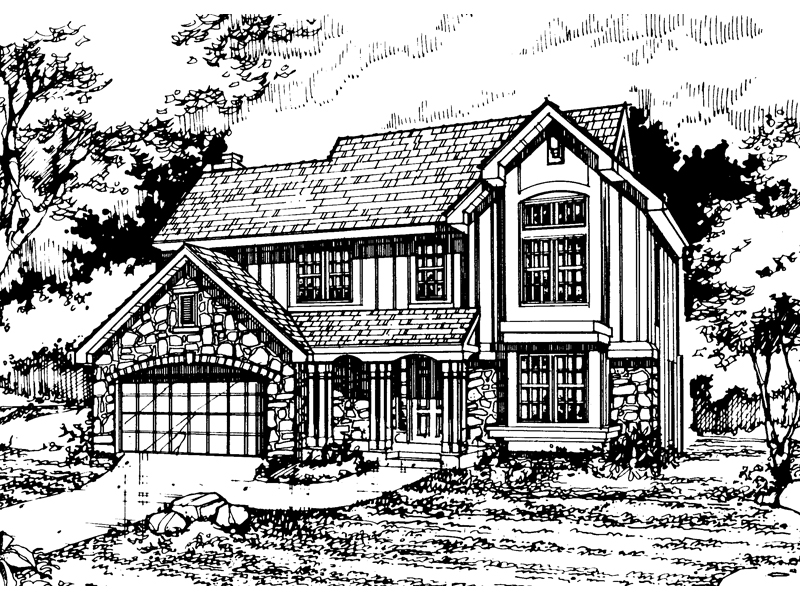 Traditional House Plan Front of Home - 072D-0470 | House Plans and More