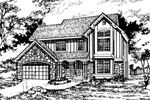 Country House Plan Front of Home - 072D-0470 | House Plans and More