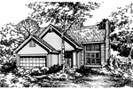 Contemporary House Plan Front of Home - 072D-0471 | House Plans and More