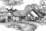 Ranch House Plan Front of Home - 072D-0473 | House Plans and More