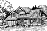 Contemporary House Plan Front of Home - 072D-0474 | House Plans and More