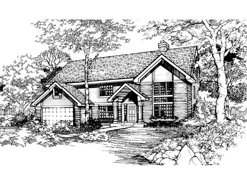 Traditional House Plan Front of Home - 072D-0475 | House Plans and More
