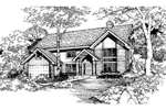 Country House Plan Front of Home - 072D-0475 | House Plans and More