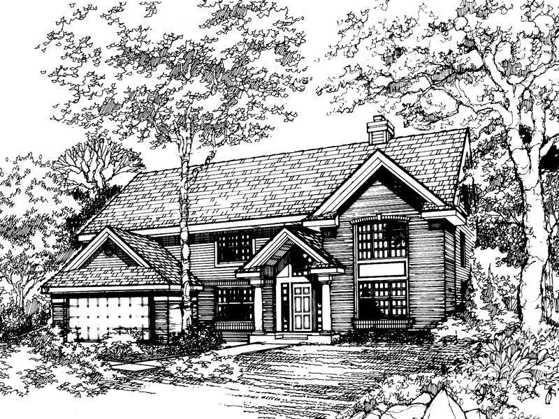 Colonial House Plan Front of Home - 072D-0476 | House Plans and More