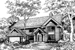 Traditional House Plan Front of Home - 072D-0476 | House Plans and More