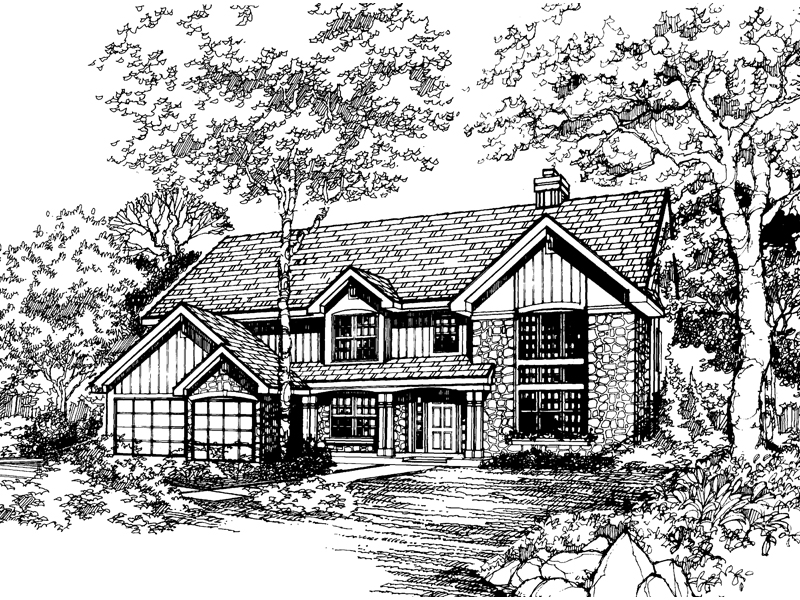 Traditional House Plan Front of Home - 072D-0477 | House Plans and More