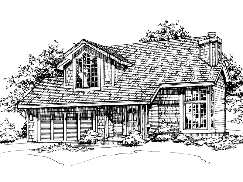 Bungalow House Plan Front of Home - 072D-0478 | House Plans and More