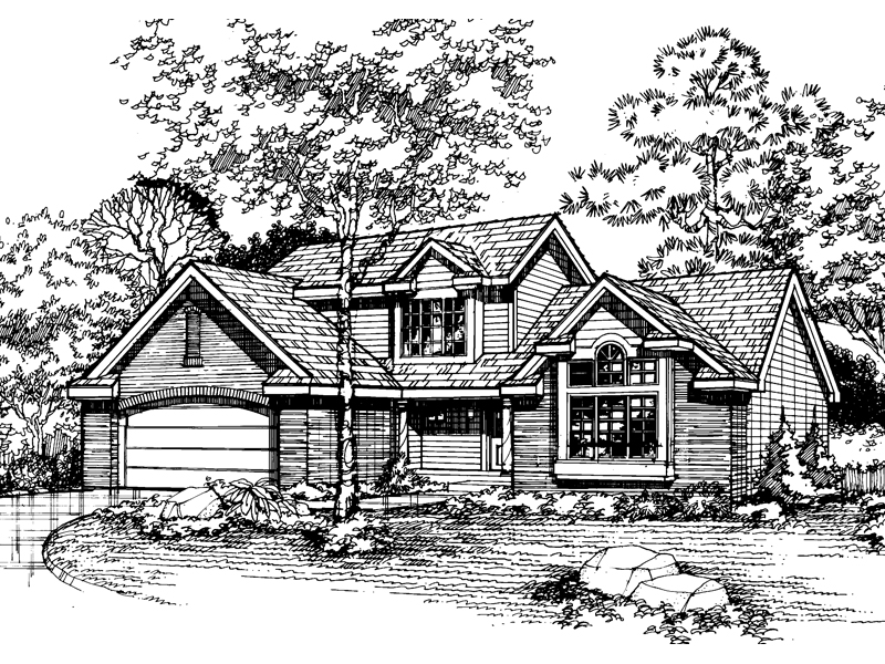 Contemporary House Plan Front of Home - 072D-0479 | House Plans and More