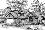 Traditional House Plan Front of Home - 072D-0479 | House Plans and More