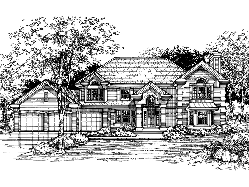 Luxury House Plan Front of Home - 072D-0480 | House Plans and More