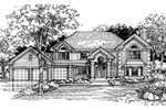Traditional House Plan Front of Home - 072D-0480 | House Plans and More