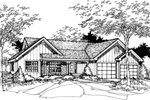 Traditional House Plan Front of Home - 072D-0484 | House Plans and More