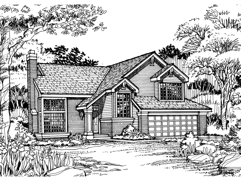 Country House Plan Front of Home - 072D-0485 | House Plans and More