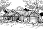 Ranch House Plan Front of Home - 072D-0487 | House Plans and More