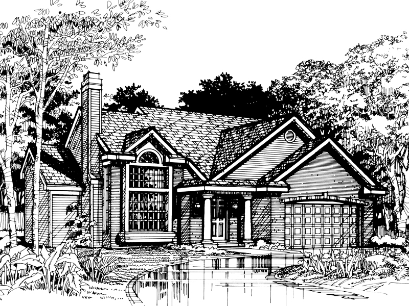 Neoclassical Home Plan Front of Home - 072D-0488 | House Plans and More