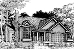 Contemporary House Plan Front of Home - 072D-0488 | House Plans and More