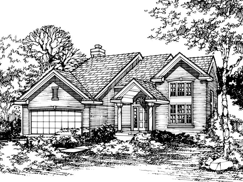 Southern House Plan Front of Home - 072D-0489 | House Plans and More
