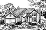 Traditional House Plan Front of Home - 072D-0489 | House Plans and More
