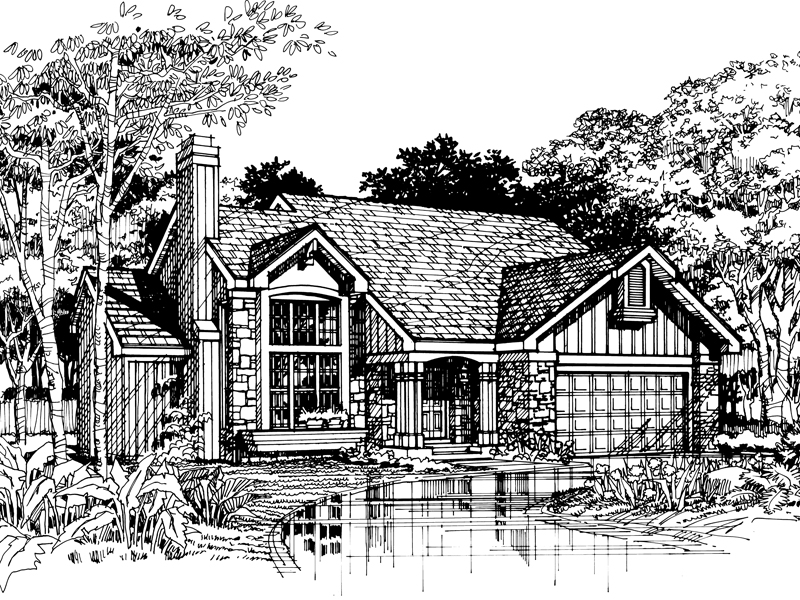 Contemporary House Plan Front of Home - 072D-0490 | House Plans and More