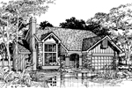 Traditional House Plan Front of Home - 072D-0490 | House Plans and More