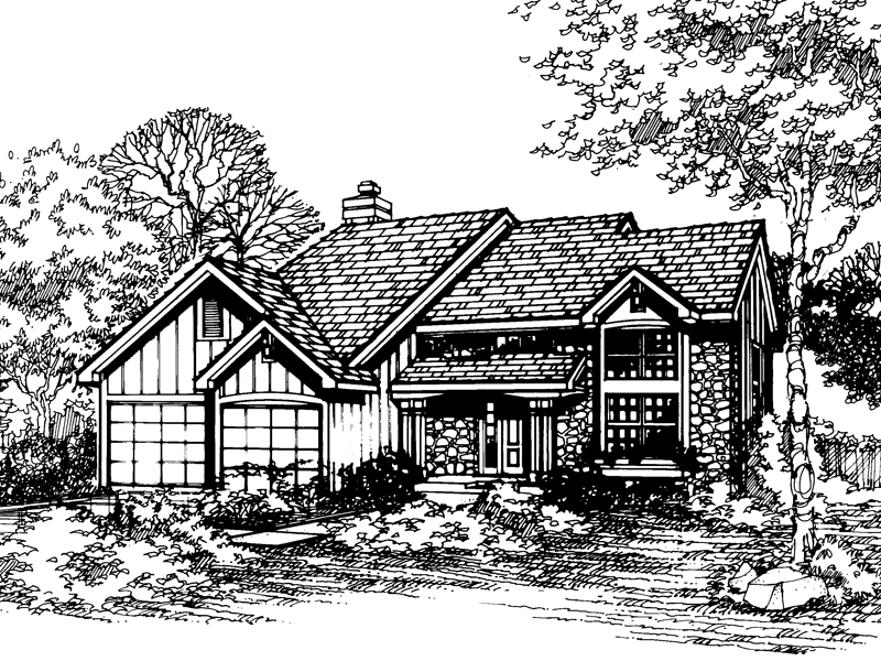 Traditional House Plan Front of Home - 072D-0491 | House Plans and More