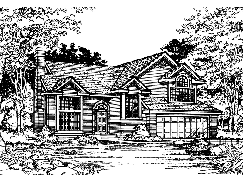 Contemporary House Plan Front of Home - 072D-0492 | House Plans and More