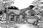 Modern House Plan Front of Home - 072D-0492 | House Plans and More