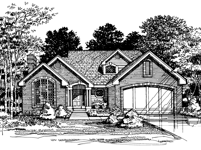 Cabin and Cottage Plan Front of Home - 072D-0493 | House Plans and More