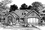 English Tudor House Plan Front of Home - 072D-0493 | House Plans and More