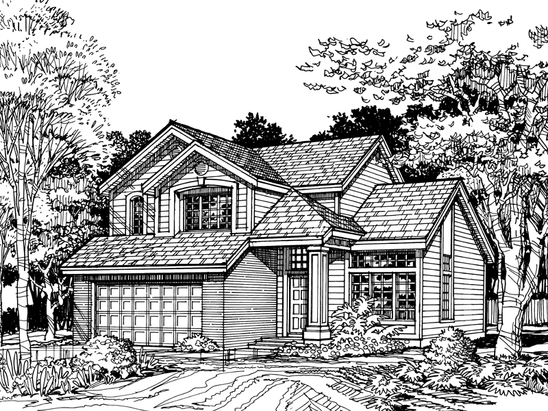 Southern House Plan Front of Home - 072D-0494 | House Plans and More