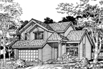 Traditional House Plan Front of Home - 072D-0494 | House Plans and More