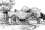 Traditional House Plan Front of Home - 072D-0495 | House Plans and More