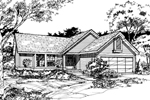 Traditional House Plan Front of Home - 072D-0496 | House Plans and More