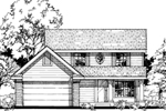 Colonial Floor Plan Front of Home - 072D-0497 | House Plans and More