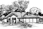 Contemporary House Plan Front of Home - 072D-0498 | House Plans and More