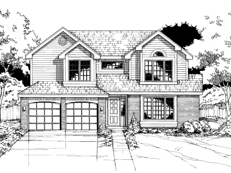 Traditional House Plan Front of Home - 072D-0499 | House Plans and More