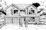Country House Plan Front of Home - 072D-0499 | House Plans and More