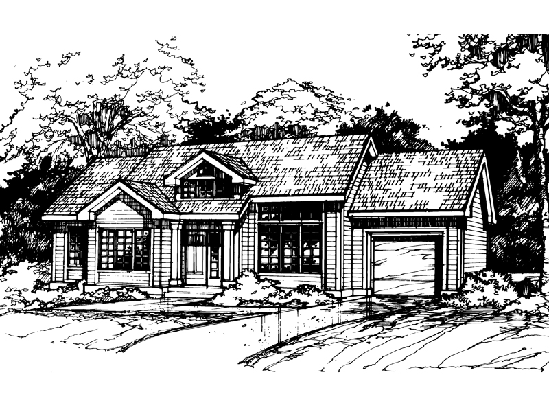 Country House Plan Front of Home - 072D-0501 | House Plans and More