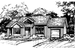 Ranch House Plan Front of Home - 072D-0501 | House Plans and More